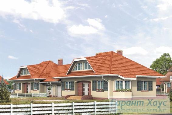 Проект двухквартирного дома № 24