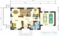78-proekt.ru - Проект Одноквартирного Дома №322.  План Первого Этажа