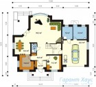 78-proekt.ru - Проект Одноквартирного Дома №34.  План Первого Этажа