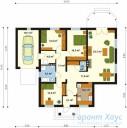 78-proekt.ru - Проект Одноквартирного Дома №100.  План Первого Этажа