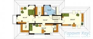 78-proekt.ru - Проект Одноквартирного Дома №321.  План Второго Этажа