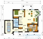 78-proekt.ru - Проект Одноквартирного Дома №206.  План Первого Этажа