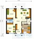 78-proekt.ru - Проект Одноквартирного Дома №69.  План Первого Этажа