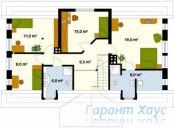 78-proekt.ru - Проект Одноквартирного Дома №343.  План Второго Этажа
