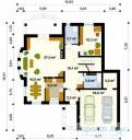 78-proekt.ru - Проект Одноквартирного Дома №215.  План Первого Этажа