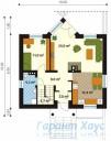 78-proekt.ru - Проект Одноквартирного Дома №171.  План Первого Этажа