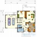 78-proekt.ru - Проект Одноквартирного Дома №101.  План Первого Этажа