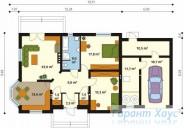 78-proekt.ru - Проект Одноквартирного Дома №124.  План Первого Этажа