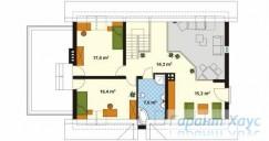 78-proekt.ru - Проект Одноквартирного Дома №220.  План Второго Этажа