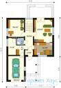 78-proekt.ru - Проект Одноквартирного Дома №228.  План Первого Этажа