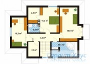 78-proekt.ru - Проект Одноквартирного Дома №207.  План Второго Этажа