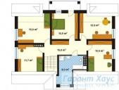 78-proekt.ru - Проект Одноквартирного Дома №205.  План Второго Этажа