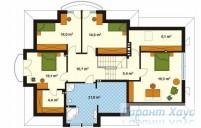 78-proekt.ru - Проект Одноквартирного Дома №33.  План Второго Этажа