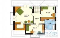 78-proekt.ru - Проект Одноквартирного Дома №188.  План Второго Этажа