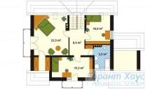 78-proekt.ru - Проект Одноквартирного Дома №186.  План Второго Этажа