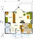 78-proekt.ru - Проект Одноквартирного Дома №172.  План Первого Этажа