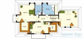 78-proekt.ru - Проект Одноквартирного Дома №323.  План Второго Этажа