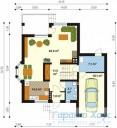 78-proekt.ru - Проект Одноквартирного Дома №339.  План Первого Этажа
