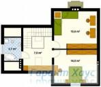 78-proekt.ru - Проект Одноквартирного Дома №1.  План Второго Этажа