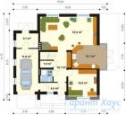 78-proekt.ru - Проект Одноквартирного Дома №57.  План Первого Этажа