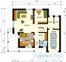 78-proekt.ru - Проект Одноквартирного Дома №119.  План Первого Этажа