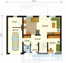 78-proekt.ru - Проект Одноквартирного Дома №79.  План Первого Этажа