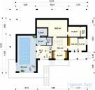 78-proekt.ru - Проект Одноквартирного Дома №77.  План Первого Этажа