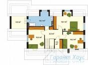 78-proekt.ru - Проект Одноквартирного Дома №50.  План Второго Этажа