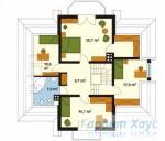 78-proekt.ru - Проект Одноквартирного Дома №114.  План Второго Этажа