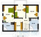 78-proekt.ru - Проект Одноквартирного Дома №294.  План Второго Этажа