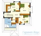 78-proekt.ru - Проект Одноквартирного Дома №10.  План Второго Этажа