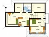 78-proekt.ru - Проект Одноквартирного Дома №149.  План Второго Этажа