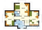 78-proekt.ru - Проект Одноквартирного Дома №225.  План Второго Этажа