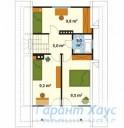 78-proekt.ru - Проект Одноквартирного Дома №289.  План Второго Этажа