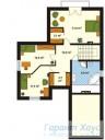 78-proekt.ru - Проект Одноквартирного Дома №243.  План Второго Этажа