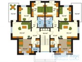 78-proekt.ru - Проект Двухквартирного Дома №13.  План Второго Этажа