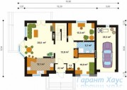 78-proekt.ru - Проект Одноквартирного Дома №156.  План Первого Этажа