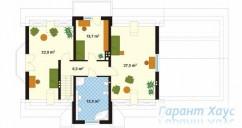 78-proekt.ru - Проект Одноквартирного Дома №31.  План Второго Этажа