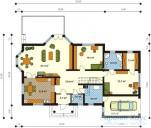 78-proekt.ru - Проект Одноквартирного Дома №18.  План Первого Этажа