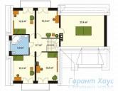 78-proekt.ru - Проект Одноквартирного Дома №249.  План Второго Этажа