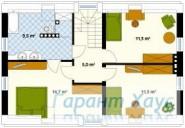 78-proekt.ru - Проект Одноквартирного Дома №313.  План Второго Этажа