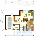 78-proekt.ru - Проект Одноквартирного Дома №134.  План Первого Этажа