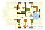 78-proekt.ru - Проект Одноквартирного Дома №259.  План Второго Этажа
