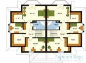 78-proekt.ru - Проект Двухквартирного Дома №18.  План Второго Этажа