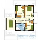 78-proekt.ru - Проект Одноквартирного Дома №307.  План Второго Этажа