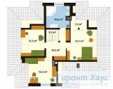 78-proekt.ru - Проект Одноквартирного Дома №328.  План Второго Этажа