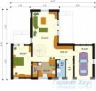 78-proekt.ru - Проект Одноквартирного Дома №99.  План Первого Этажа