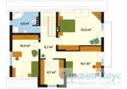78-proekt.ru - Проект Одноквартирного Дома №234.  План Второго Этажа