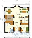 78-proekt.ru - Проект Одноквартирного Дома №256.  План Первого Этажа