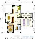 78-proekt.ru - Проект Одноквартирного Дома №311.  План Первого Этажа